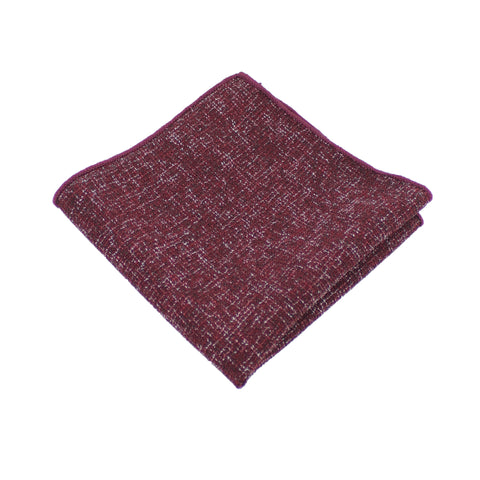 Burgundy Twill Pocket Square