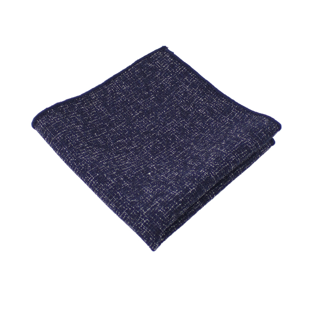 Navy Twill Pocket Square