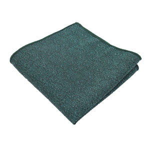 Hunter Green Textured Pocket Square