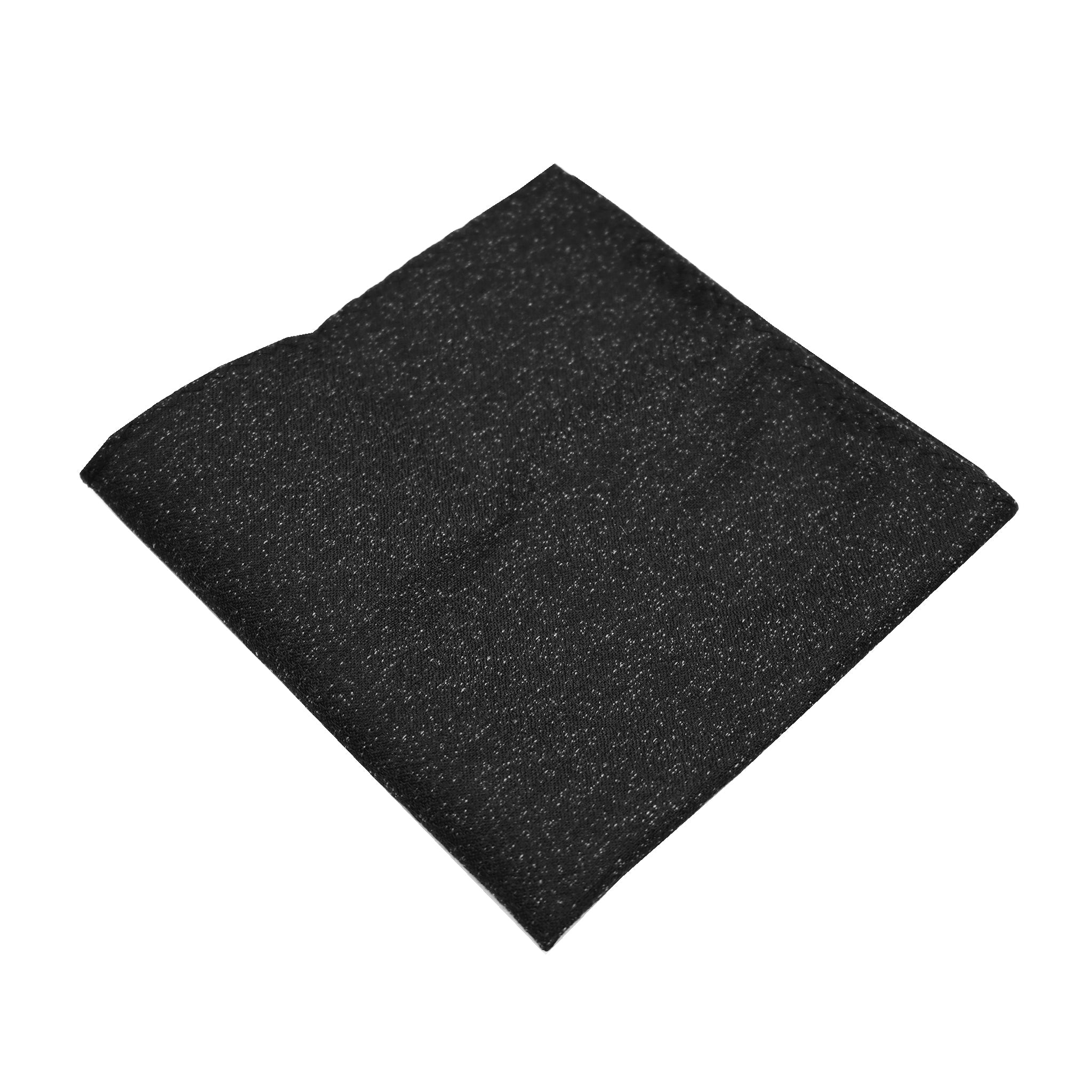 Black Textured Pocket Square