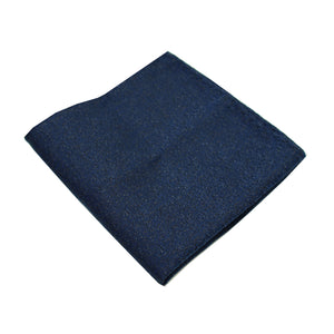 Dark Navy Textured Pocket Square