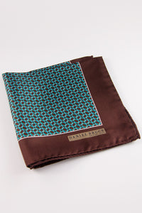 Tilted Ovals Pocket Square