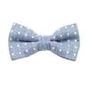 Blue & White Polkadot Pre Tie Bow Tie & Pocket Square Set