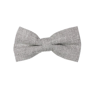 Heather Grey Pre Tie Bow Tie & Pocket Square Set