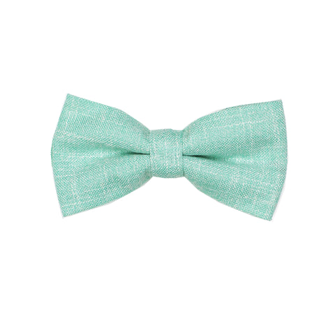 Heather Seafoam Green Pre Tie Bow Tie & Pocket Square Set