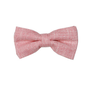 Heather Blush Pre Tie Bow Tie & Pocket Square Set