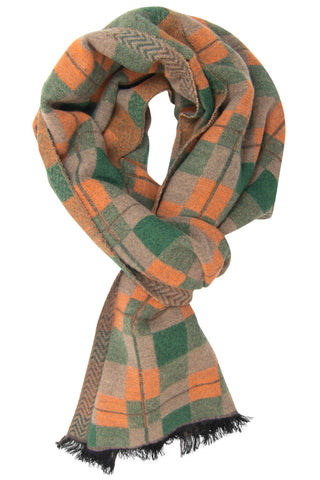 Light Brown & Green Scarf
