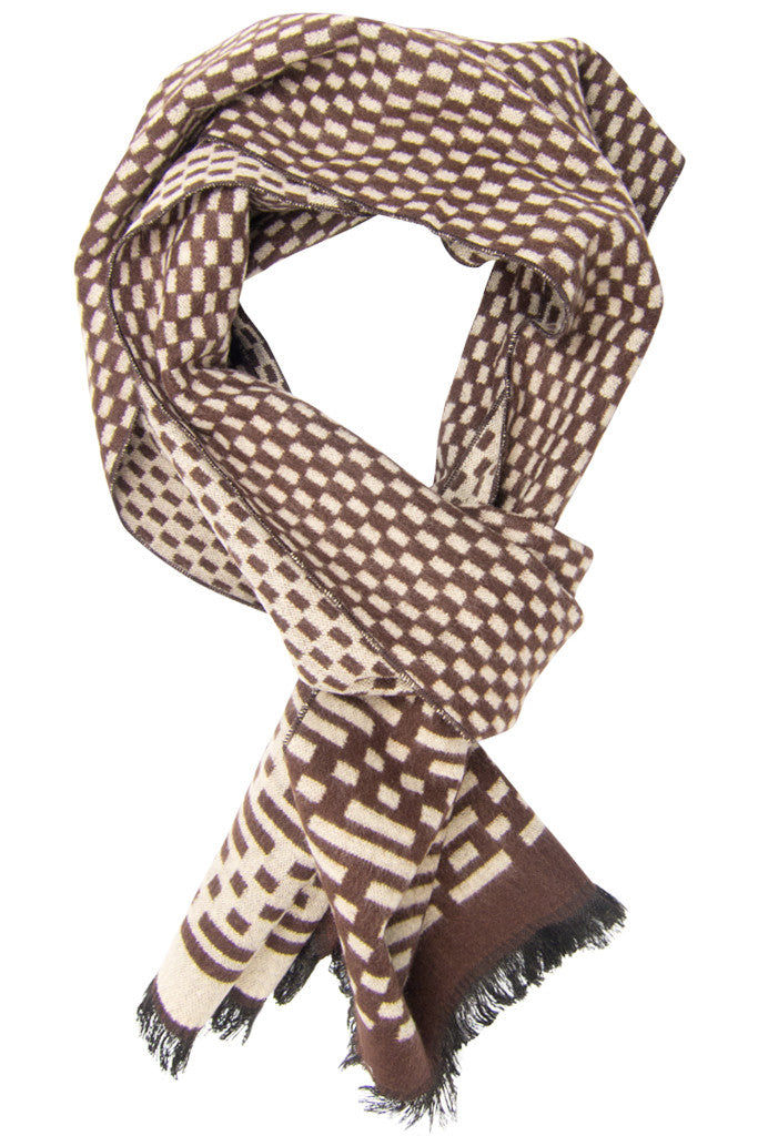 Brown Code Scarf