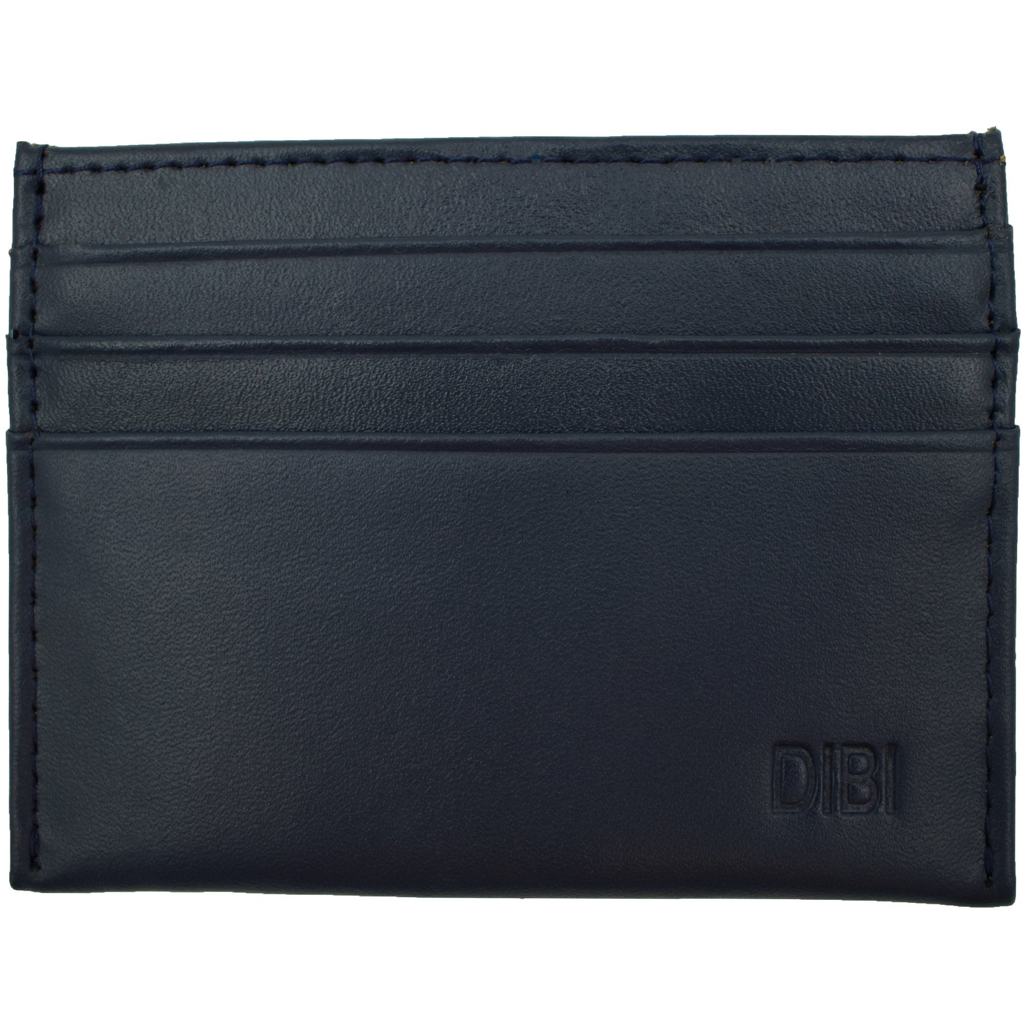 Blue Denim Slim Leather Wallet