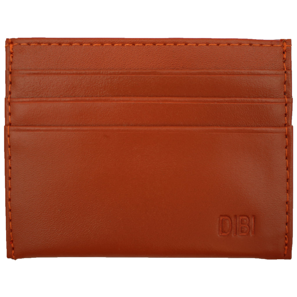 Burnt Orange Slim Leather Wallet