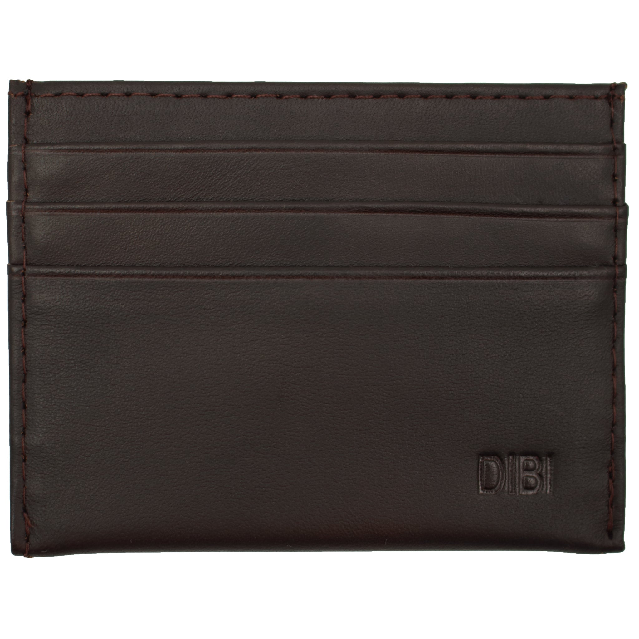Cocoa Slim Leather Wallet