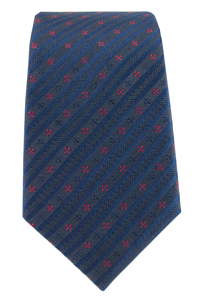 Navy & Red Star Tie