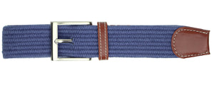 Solid Navy Elastic Belt
