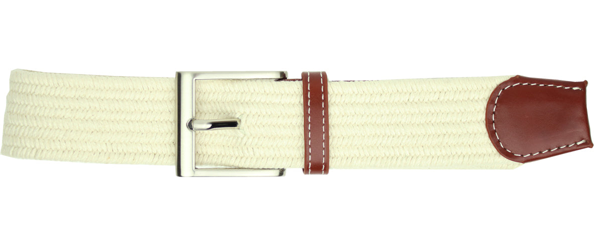 Solid Cream Elastic Belt