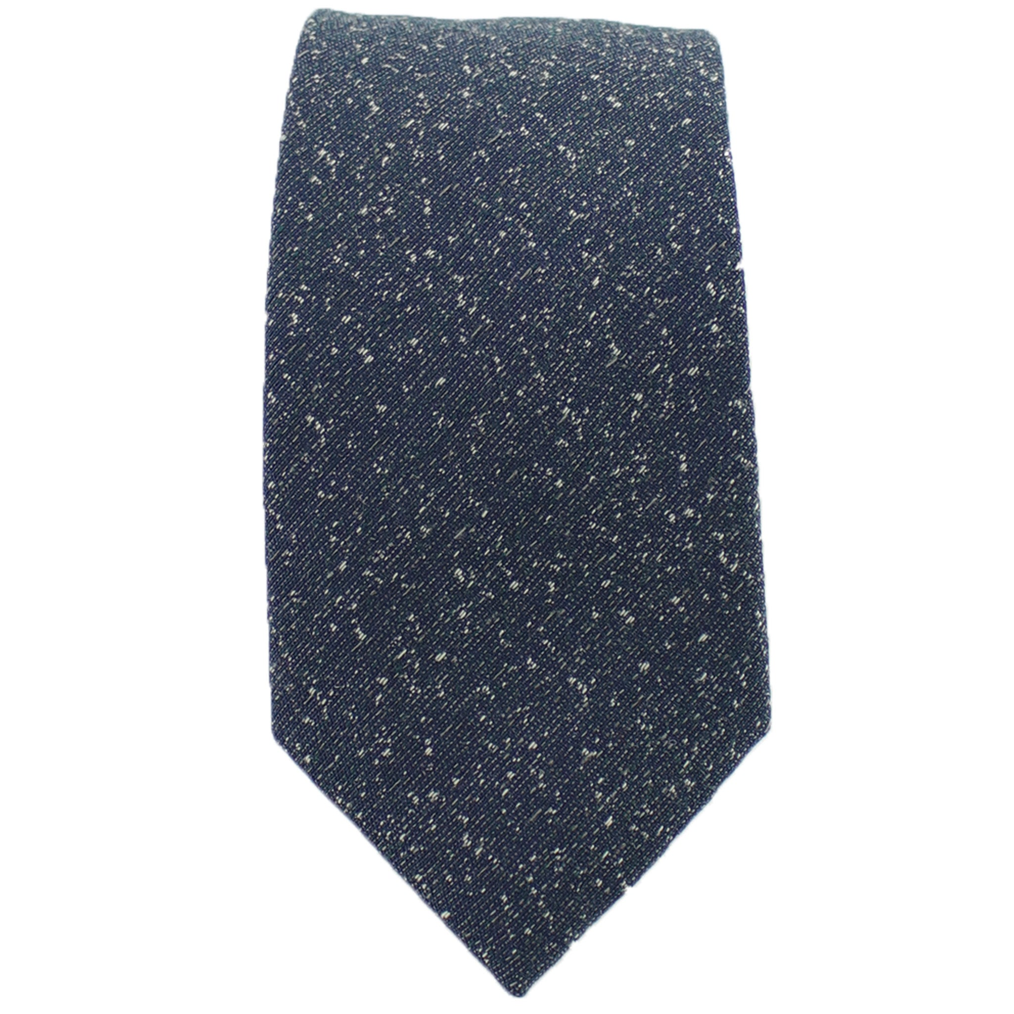 Dark Teal Speck Tie from DIBI