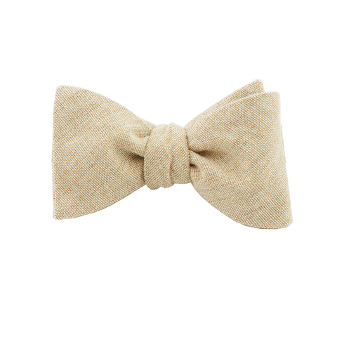 Burlap Sand Self Tie Bow Tie from DIBI
