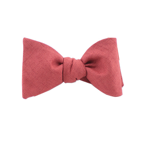 Cotton Burnt Orange Self Tie Bow Tie