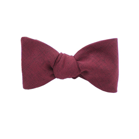 Cotton Burgundy Self Tie Bow Tie from DIBI