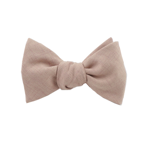 Cotton Mauve Self Tie Bow Tie