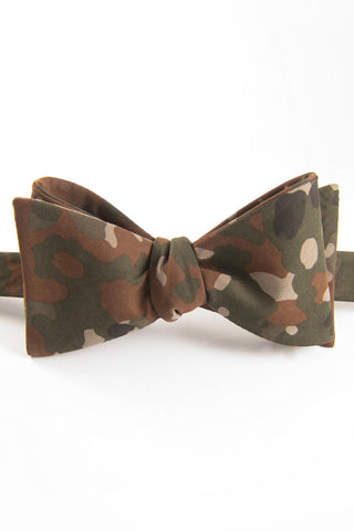 Forest Soft Camo Self Tie Bow Tie