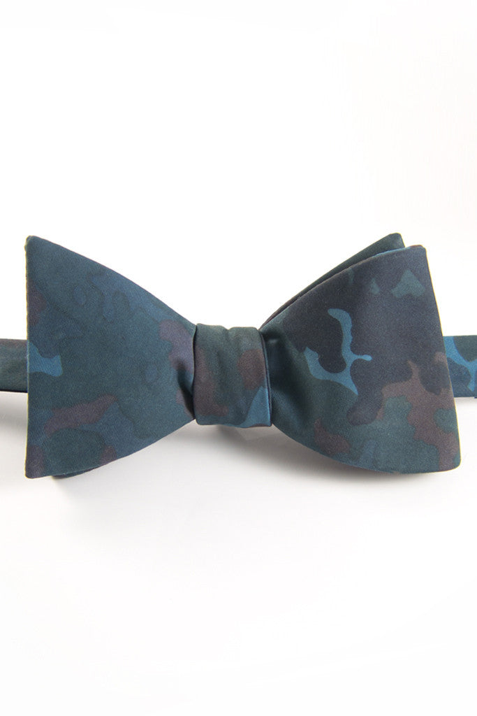 Midnight Soft Camo Self Tie Bow Tie