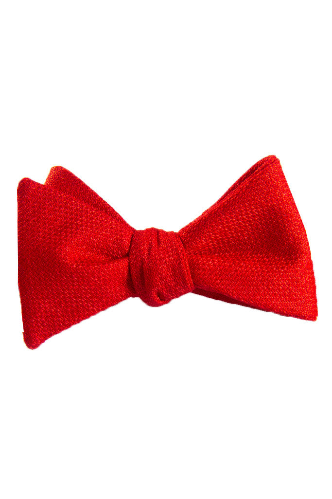 Classic Cherry Red Self Tie Bow Tie