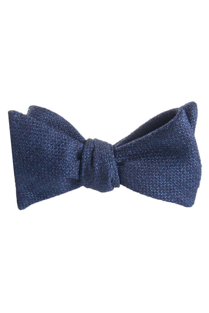 Classic Dark Navy Self Tie Bow Tie