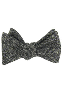 Grey Glen Plaid Self Tie Bow Tie