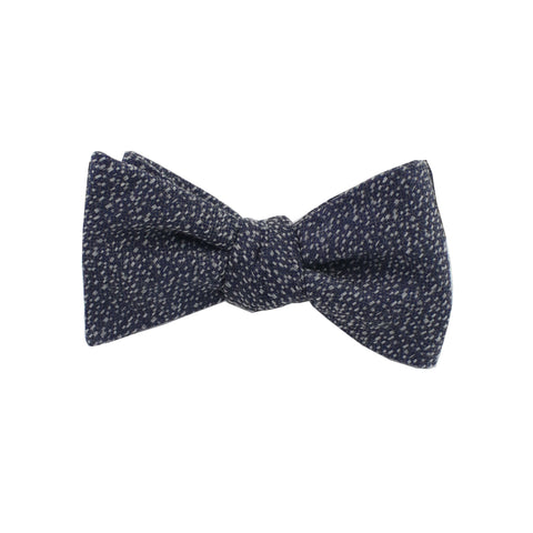Charcoal & Silver Heather Self Tie Bow Tie