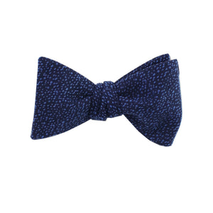 Navy & Sky Blue Heather Self Tie Bow Tie from DIBI