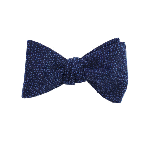 Navy & Sky Blue Heather Self Tie Bow Tie