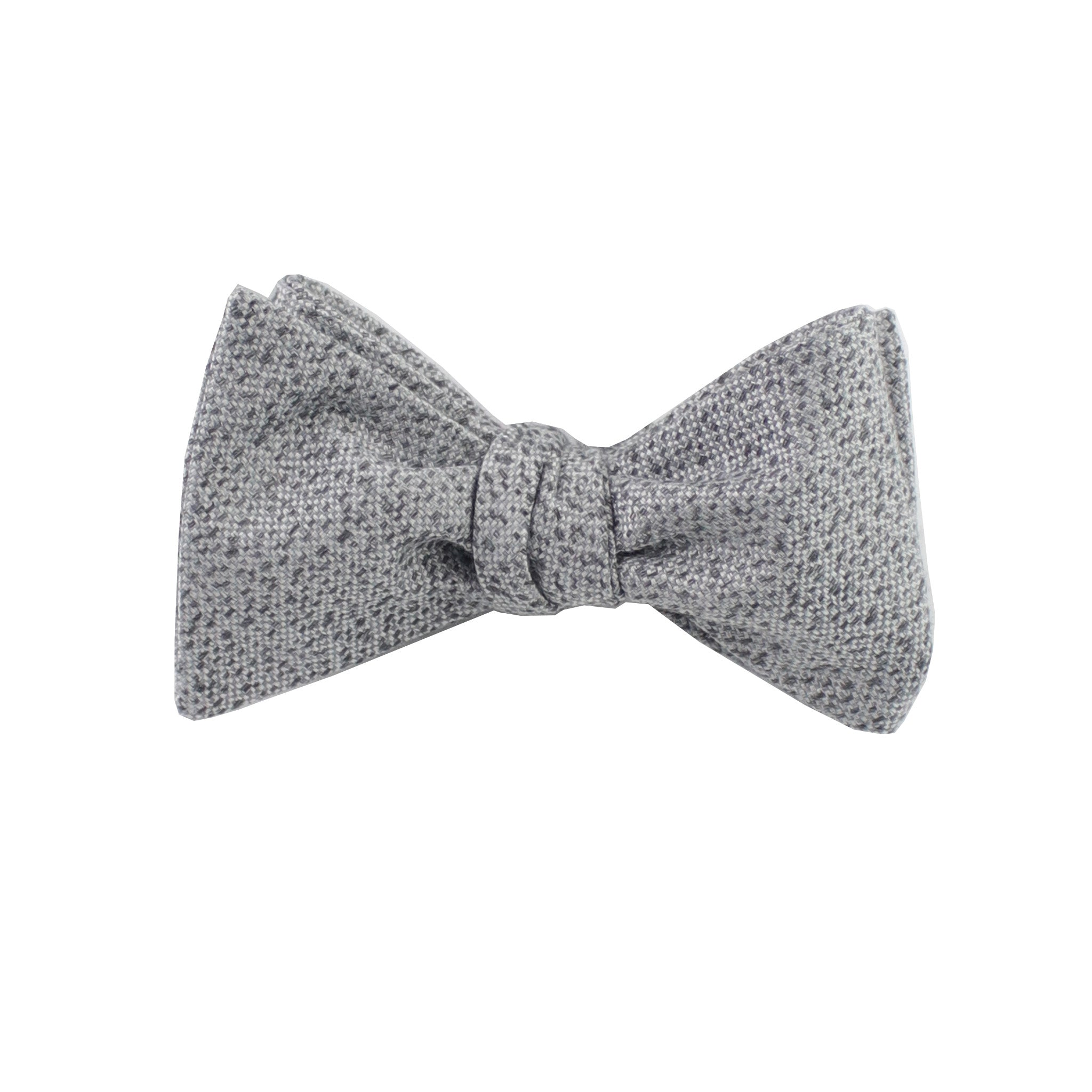 Silver & Charcoal Heather Self Tie Bow Tie from DIBI