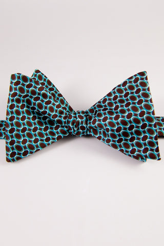 Tilted Ovals Self-Tie Bow Tie
