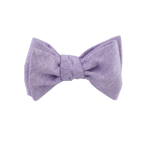 Light Purple Linen Self Tie Bow Tie from DIBI