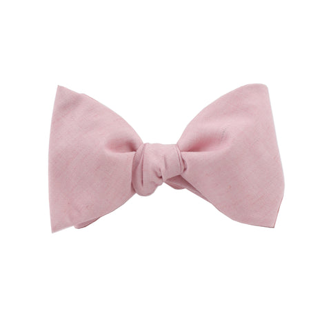 Lightweight Blush Self Tie Bow Tie