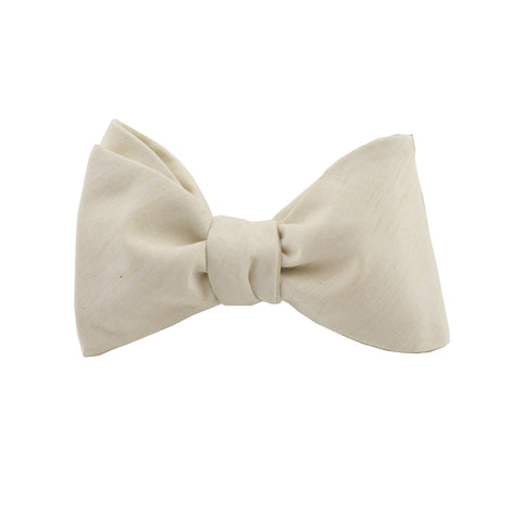 Lightweight Ivory Self Tie Bow Tie