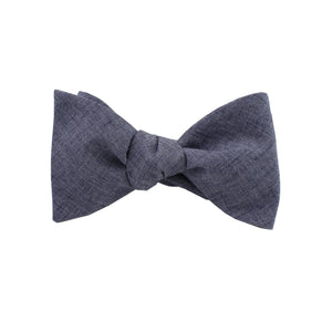 Lightweight Navy Self Tie Bow Tie from DIBI