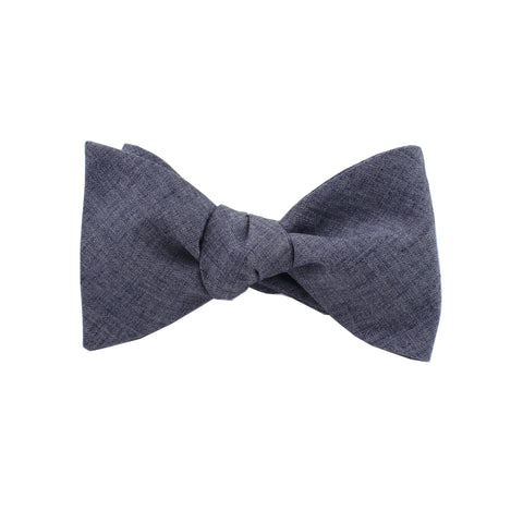Lightweight Navy Self Tie Bow Tie