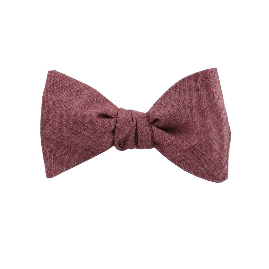Lightweight Red Self Tie Bow Tie