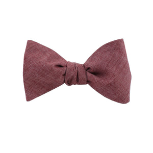 Lightweight Red Self Tie Bow Tie from DIBI