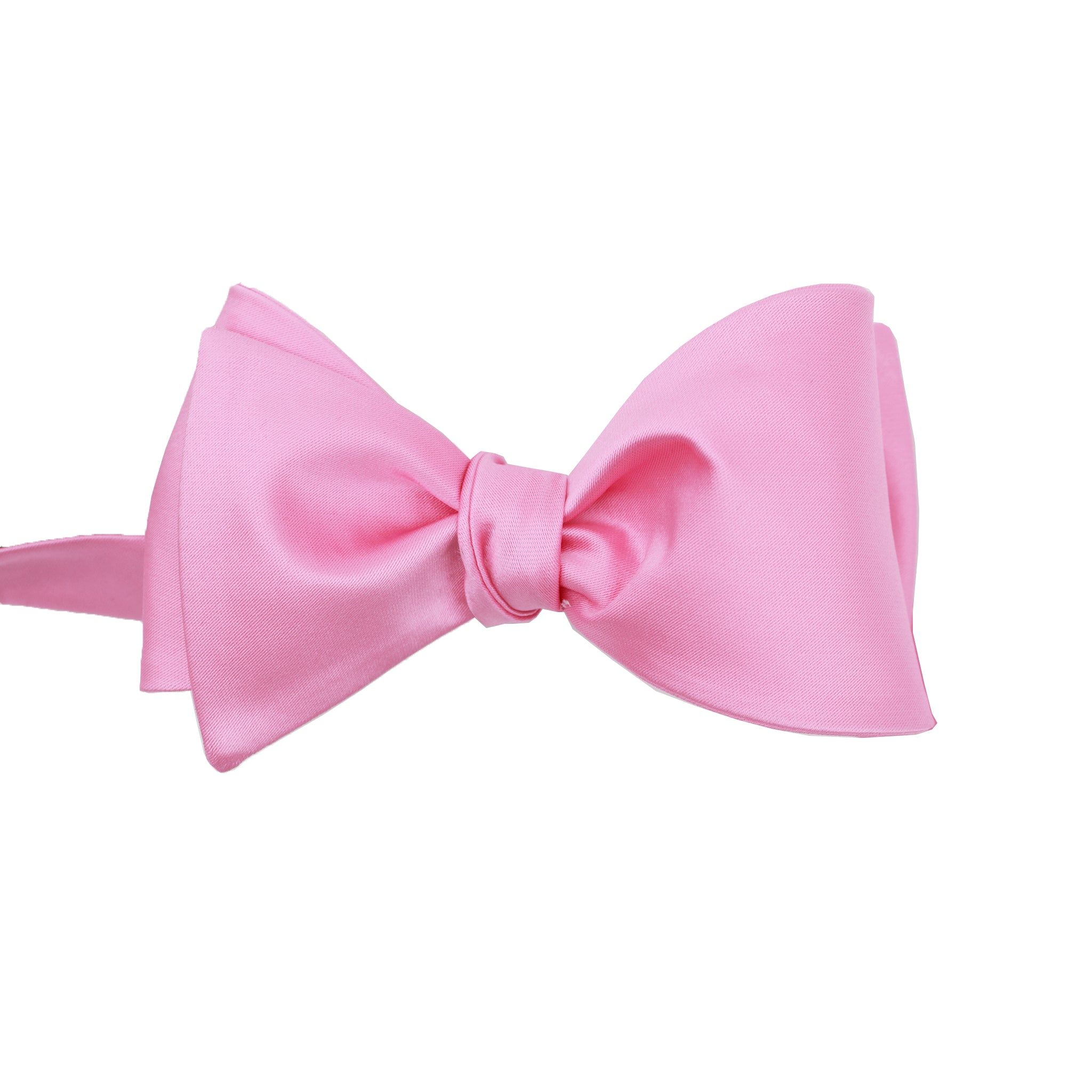 Pink Satin Self Tie Bow Tie