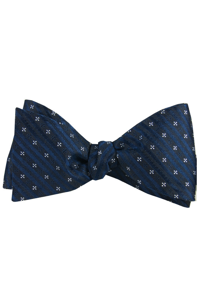 Navy & White Star Self Tie Bow Tie