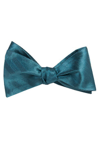 Aqua Pattern Self Tie Bow Tie