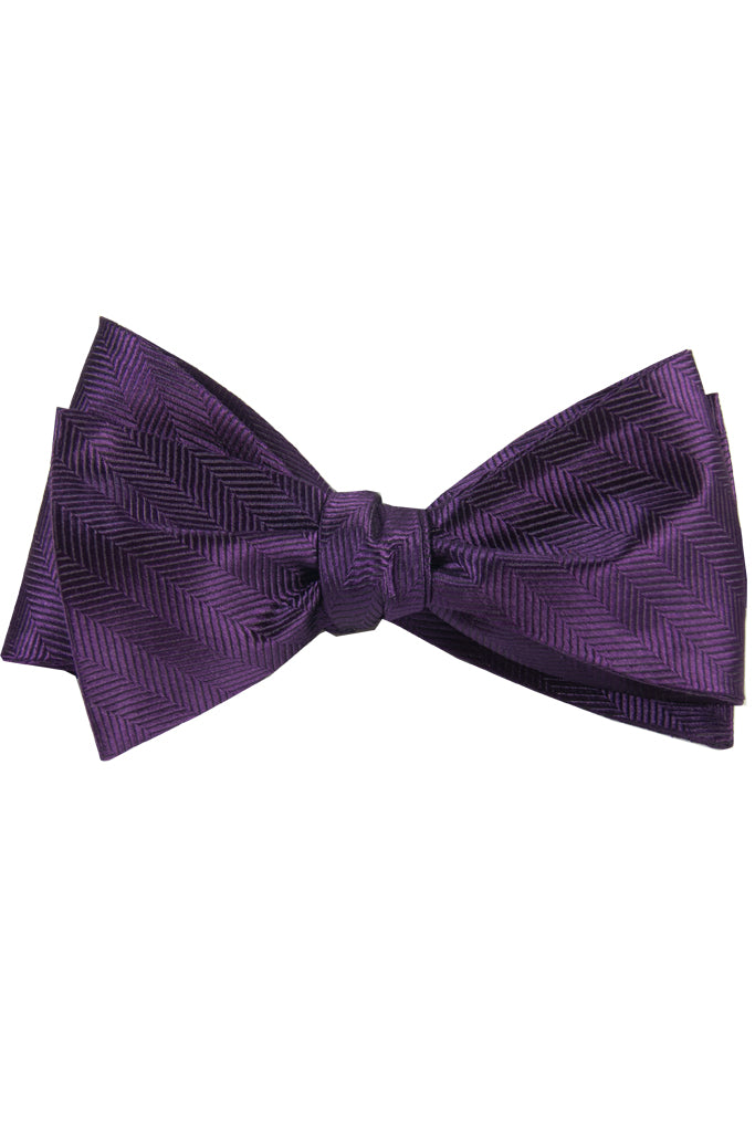 Purple Pattern Self Tie Bow Tie