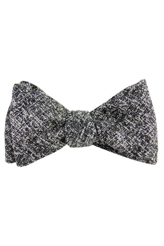 Black & White Heather Self Tie Bow Tie