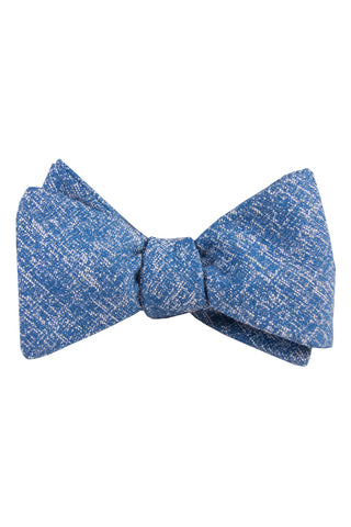 Light Blue & White Heather Self Tie Bow Tie