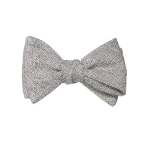 Heather Grey Self Tie Bow Tie