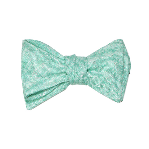 Heather Seafoam Green Self Tie Bow Tie