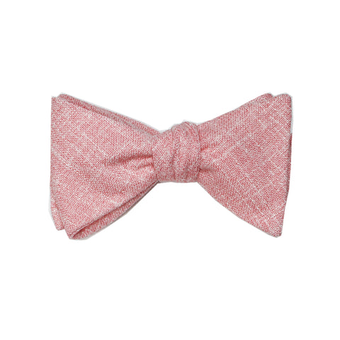 Heather Blush Self Tie Bow Tie