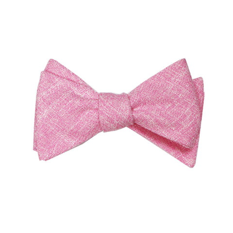 Heather Pink Self Tie Bow Tie